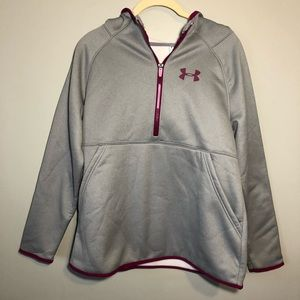 Under Armour | 1/2 Zip Pullover Hoodie Storm 1 YXL
